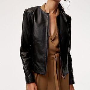 Aritzia Babaton Jett Collarless Leather Jacket